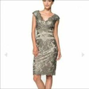 Tadashi Shoji Sequin Embroidered Lace Dress